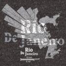 Rio De Janeiro Map von UrbanizedShirts