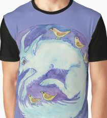 mandala- blue dog Graphic T-Shirt