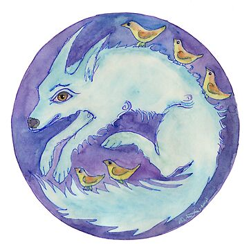 mandala- blue dog by balnacra