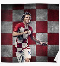 Luka Modric - Kroatien Design - Weltmeisterschaft Poster