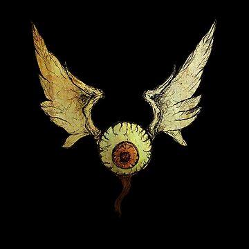 flying eyeball by boxspring