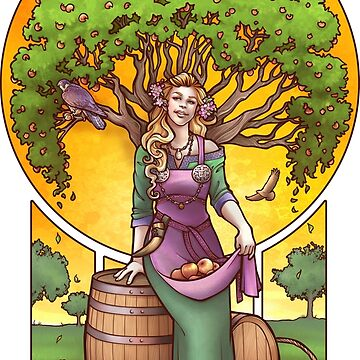 Idunn, Norse Goddess of Apples and Youth by DaniKaulakis