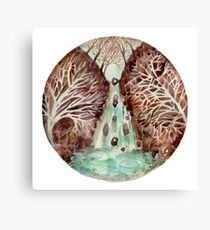 Mandala -waterfall Canvas Print