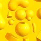 Yellow Portraits GOLD by Marc Urtasun