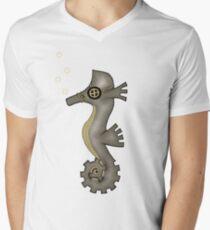 Sir Angustus Finn - Nautical Steampunk Seahorse V-Neck T-Shirt