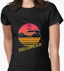 Delorean - Back to the future. Women's Fitted T-Shirt