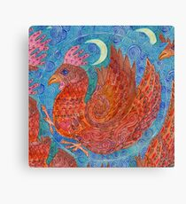 Mandala, chicken Canvas Print