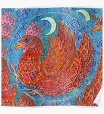Mandala, chicken Poster
