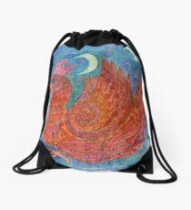 Mandala, chicken Drawstring Bag