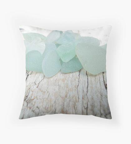 Sea Foam Sea Glass Small Collection Throw Pillow