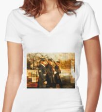 Tribute to the Fallen Women's Fitted V-Neck T-Shirt