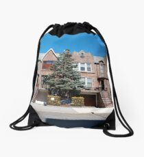 New York City, New York, Brooklyn, Manhattan, building, house Drawstring Bag
