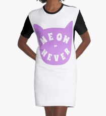 Meow or never Graphic T-Shirt Dress