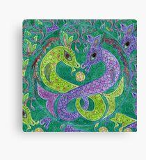 Mandala, kelpies Canvas Print