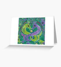Mandala, kelpies Greeting Card