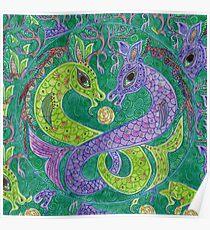 Mandala, kelpies Poster