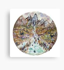 sketch of fairy pools Canvas Print