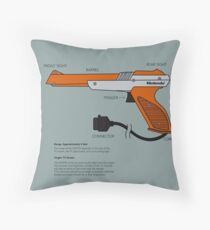 Nes Zapper Shoot them! Throw Pillow