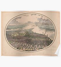 Vintage Pictorial Map of Washington DC (1865) Poster