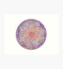 knotwork mandala Art Print