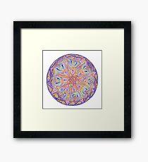 knotwork mandala Framed Print