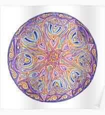knotwork mandala Poster