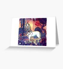 The last Unicorn Greeting Card