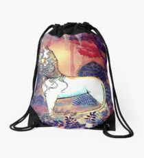 The last Unicorn Drawstring Bag