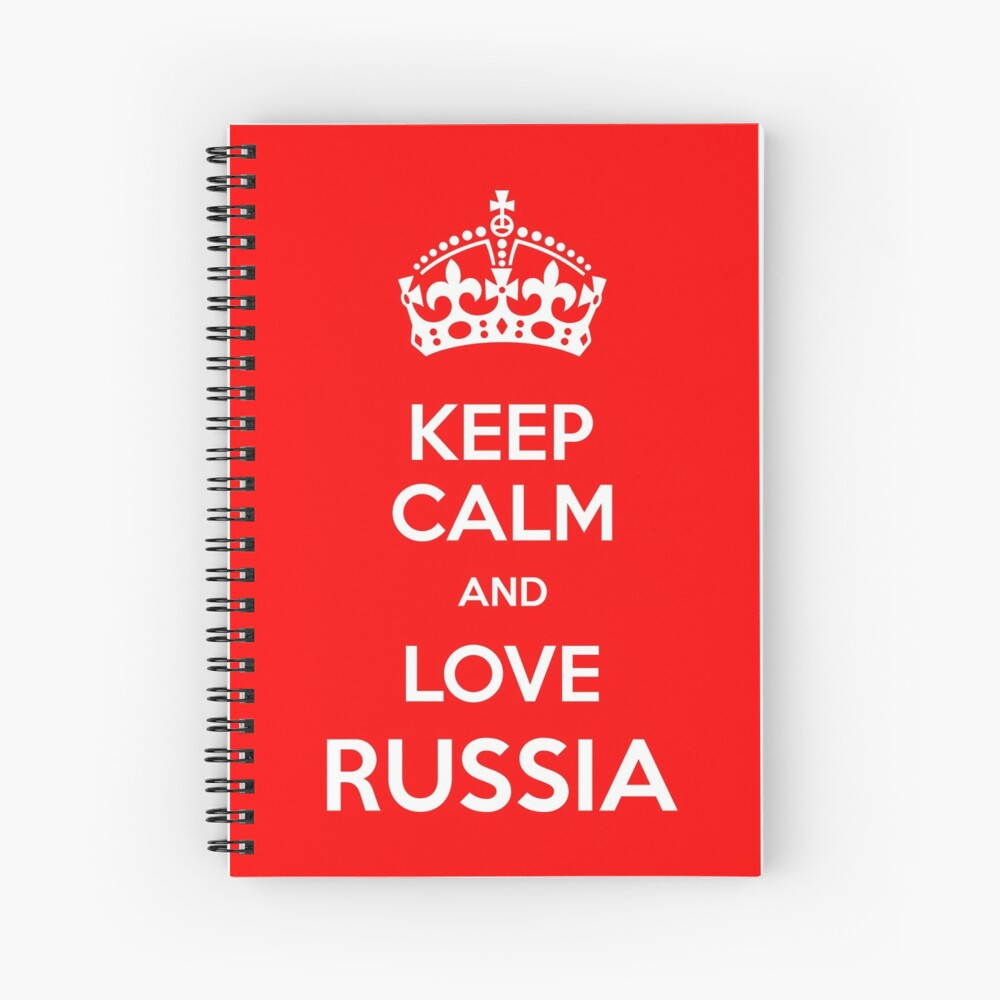 Keep Calm and Love Russia Spiral Notebook