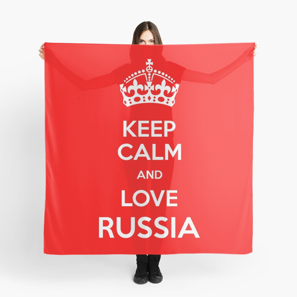 Keep Calm and Love Russia Scarf