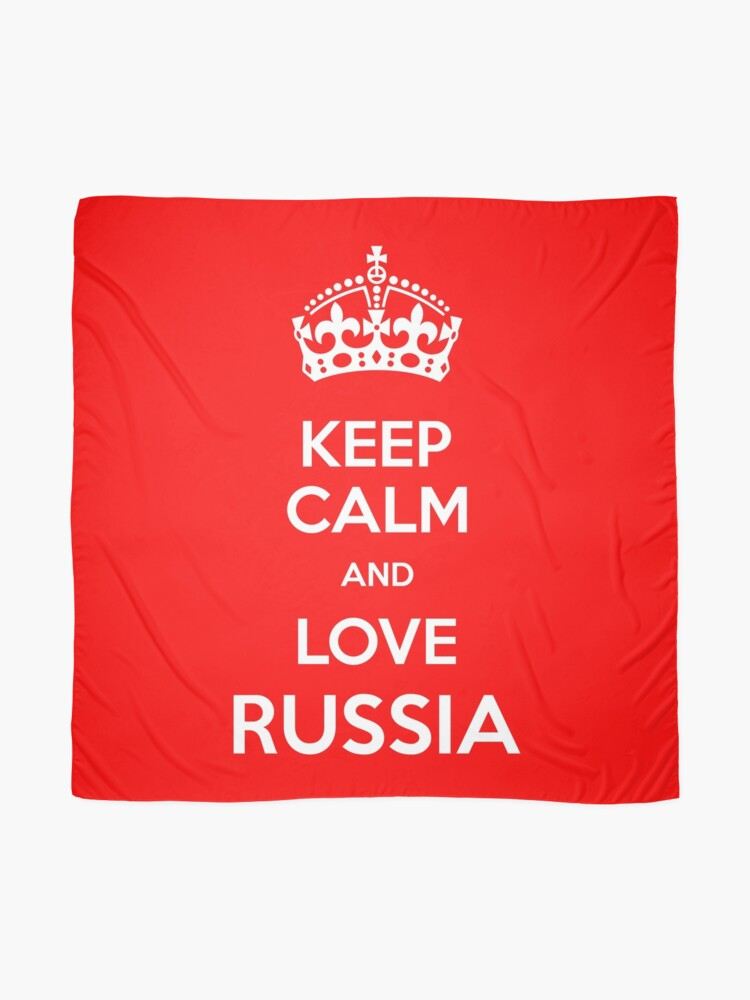 Alternate view of Keep Calm and Love Russia Scarf