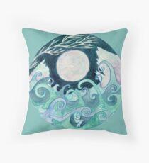 stormy Mandala Throw Pillow