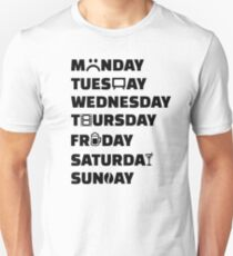 Week planner hobbies to do list T-Shirt