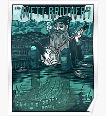 The Avett Brothers Santa Barbara Bowl 2018 Poster