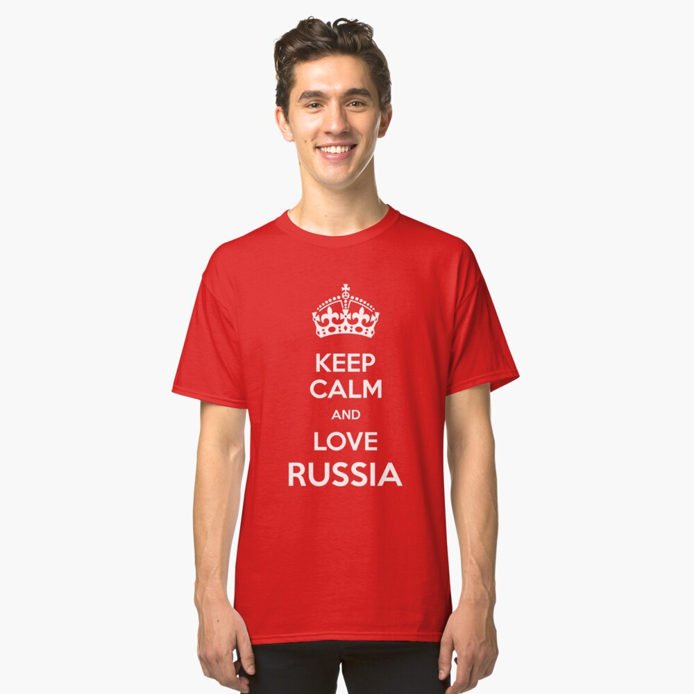 Keep Calm and Love Russia Classic T-Shirt Front