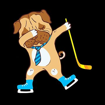 Ice Hockey Dog Dabbing  by FutureInTheAir