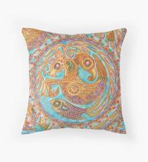 mandala Byzantium beasties Throw Pillow