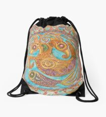 mandala Byzantium beasties Drawstring Bag