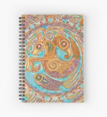 mandala Byzantium beasties Spiral Notebook