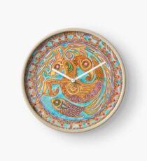 mandala Byzantium beasties Clock