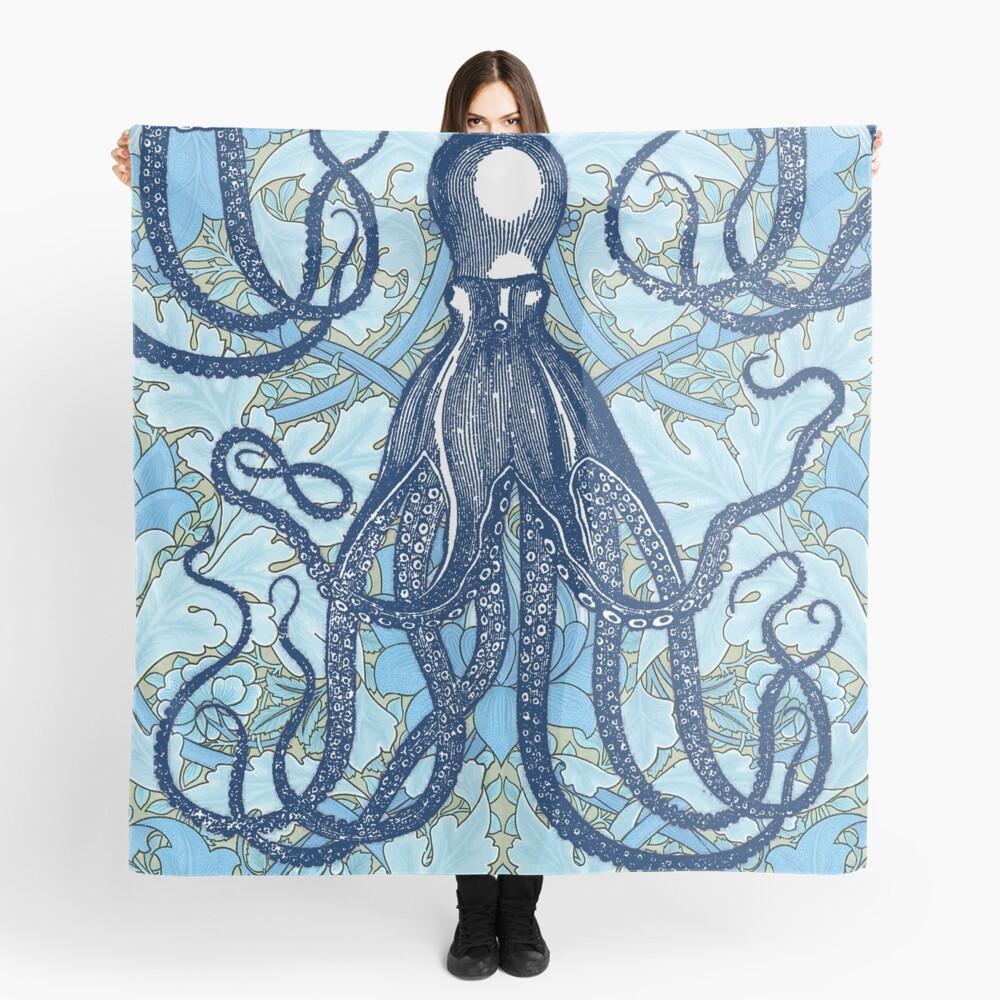 Antique Octopus with William Morris Wallpaper Scarf