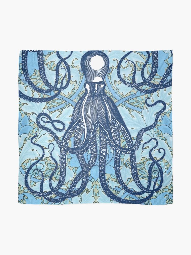 Alternate view of Antique Octopus with William Morris Wallpaper Scarf