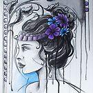 Art Nouveau Girl 1 by emilypageart