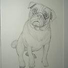 pug by BryanVanGogh