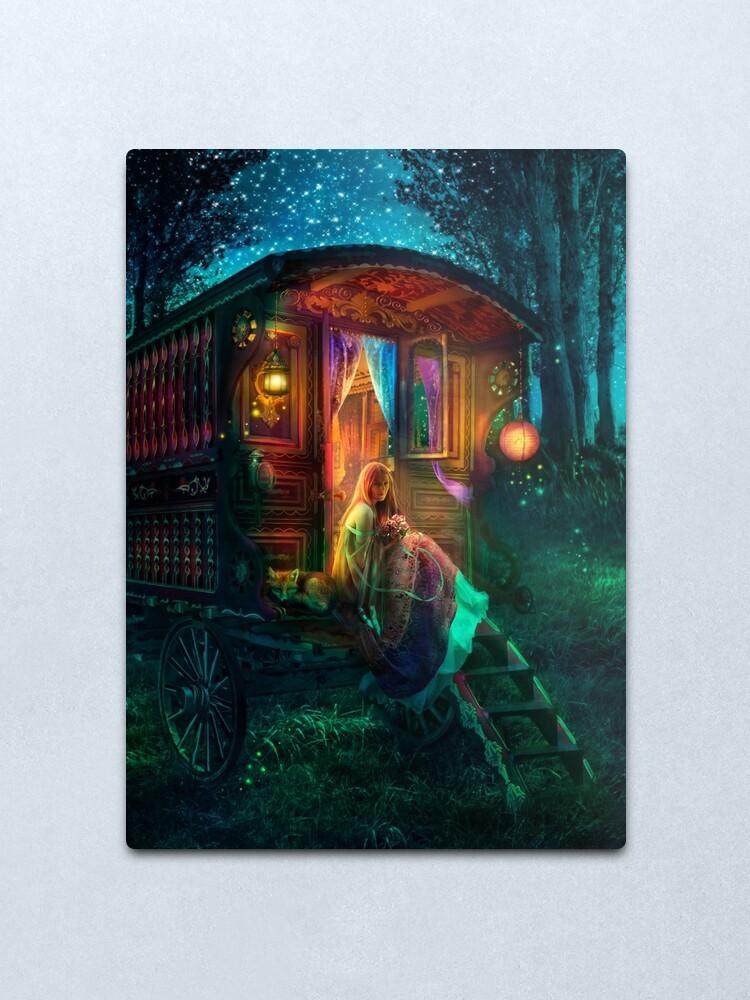 Alternate view of Gypsy Firefly Metal Print