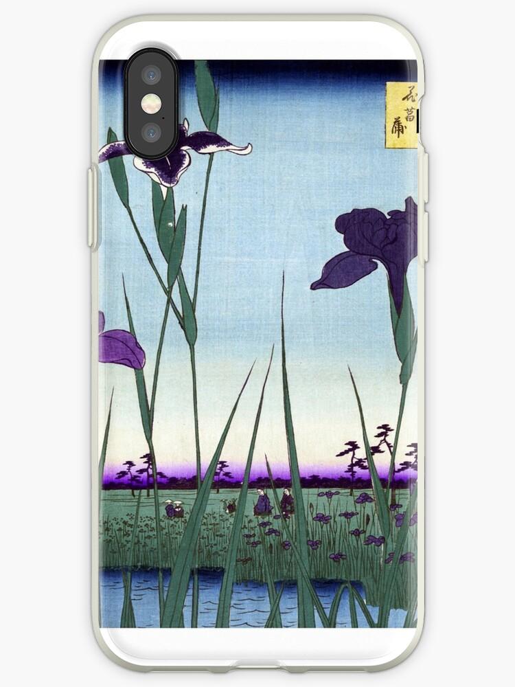 Japanese Irises in Landscape by Pixelchicken