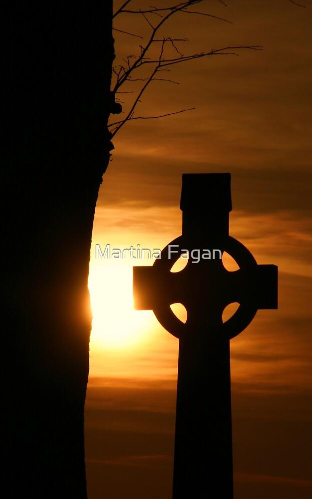 Sunset High Cross by Martina Fagan