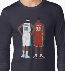 Young LeBron James And Carmelo Anthony Long Sleeve T-Shirt