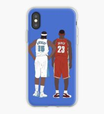 Young LeBron James And Carmelo Anthony iPhone Case