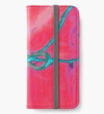 Atractivo azul eléctrico busca lazo rosa fluorescente... Funda o vinilo para iPhone